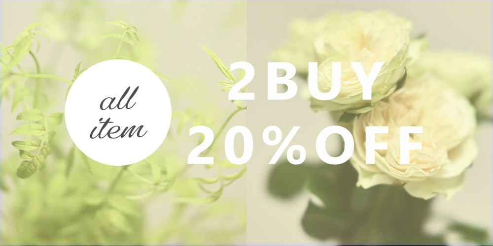 ALL ITEM 2BUY 20%OFF